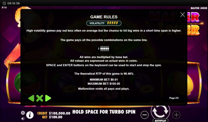 Master Joker :: General Game Rules