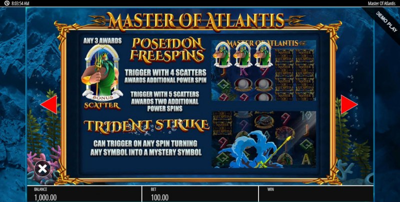 Master of Atlantis :: Feature Rules