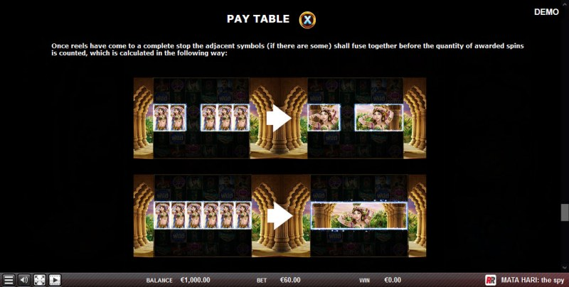 Mata Hari The Spy :: Free Spins Rules