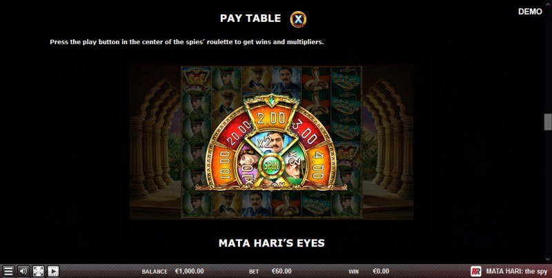 Mata Hari The Spy :: Bonus Game Rules