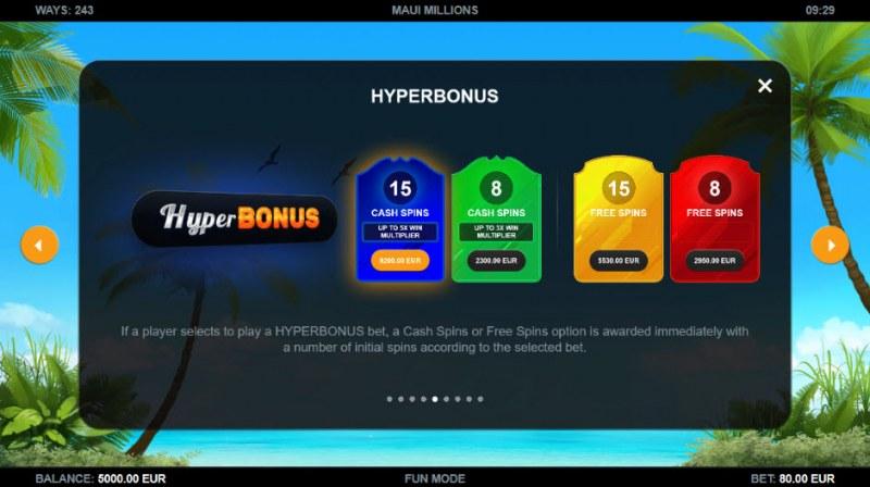 Maui Millions :: Hyper Bonus
