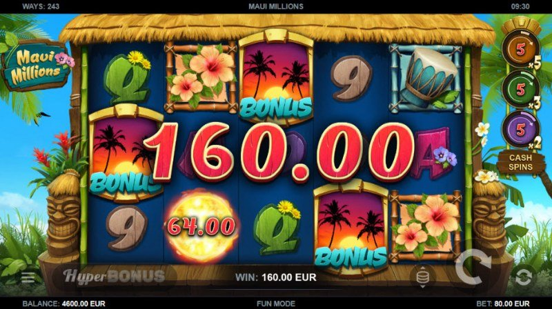 Maui Millions :: Scatter symbols triggers the free spins feature