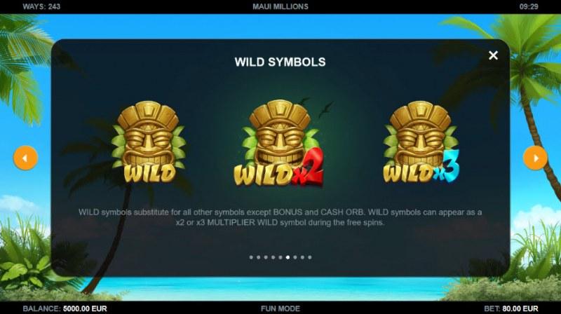 Maui Millions :: Wild Symbols Rules