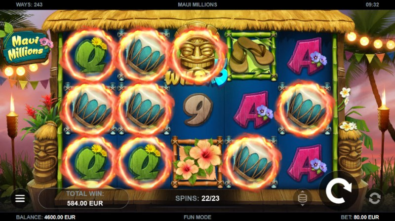 Maui Millions :: Multiple winning combinations leads to a big win