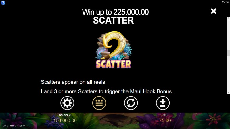 Maui Mischief :: Scatter Symbol Rules