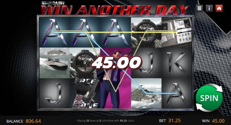 Max Cash Win Another Day :: Multiple winning paylines