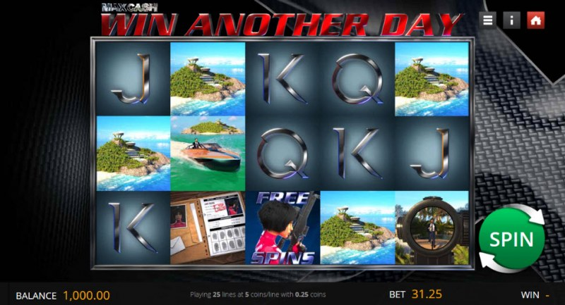 Max Cash Win Another Day :: Main Game Board