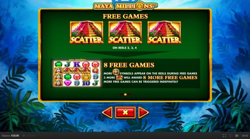 Maya Millions :: Free Spins Rules