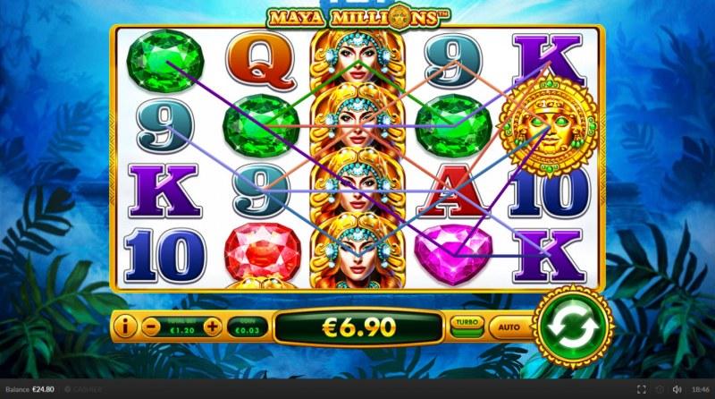 Maya Millions :: Multiple winning combinations