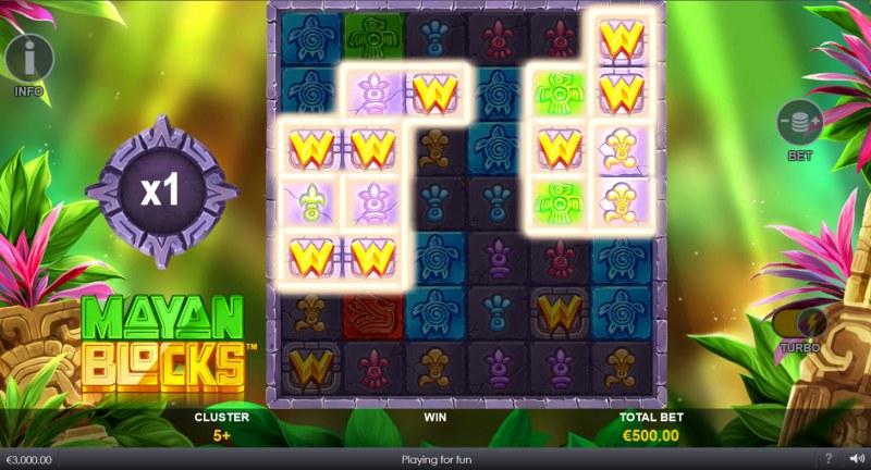 Mayan Blocks :: Multiple winning clusters