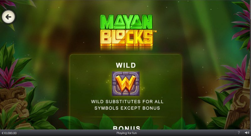 Mayan Blocks :: Wild Symbol Rules