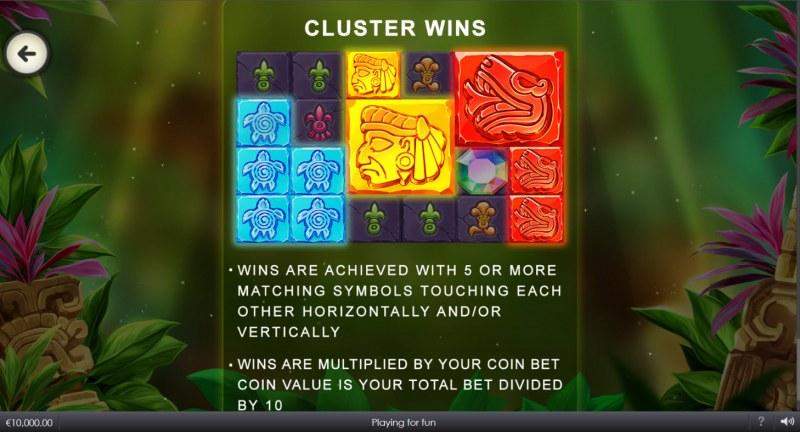 Mayan Blocks :: Cluster Wins