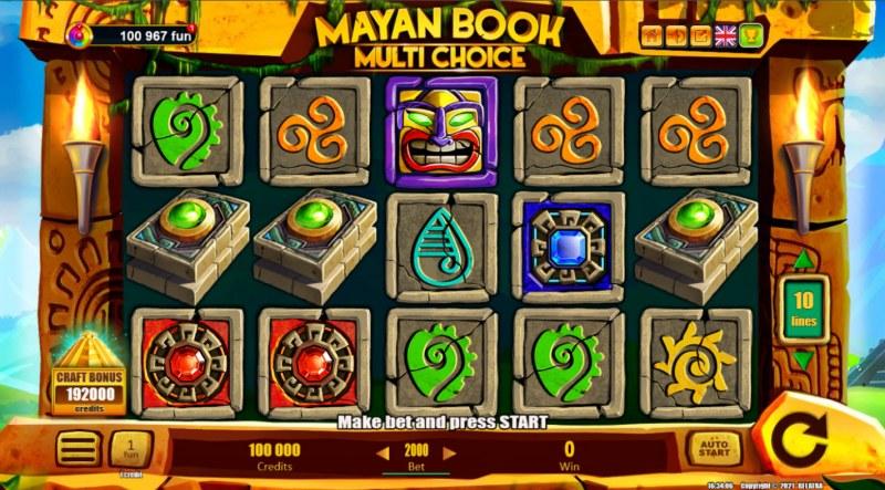 Mayan Book Multi Choice :: Main Game Board