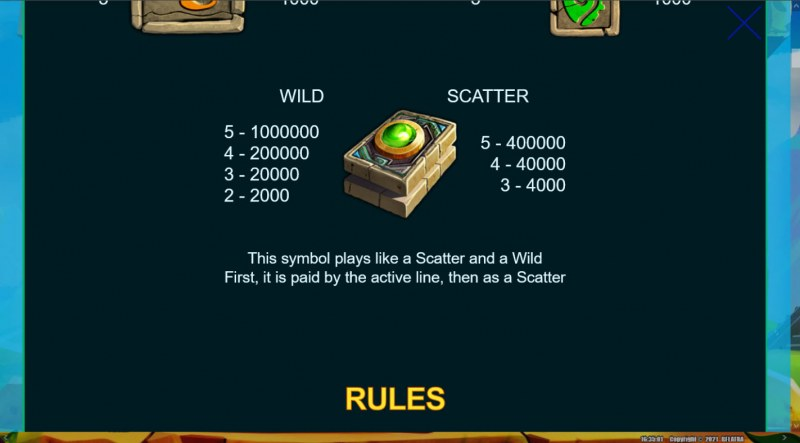 Mayan Book Multi Choice :: Wild and Scatter Rules