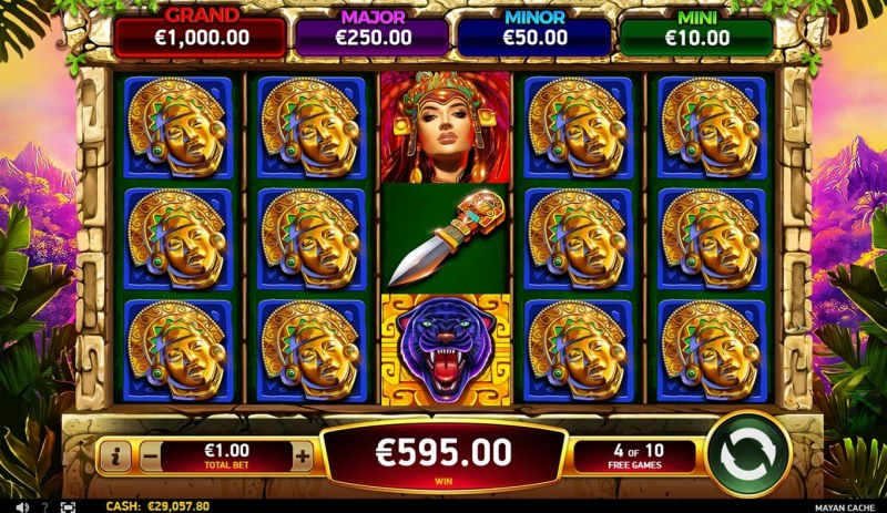 Mayan Cache :: Free Spins Game Board