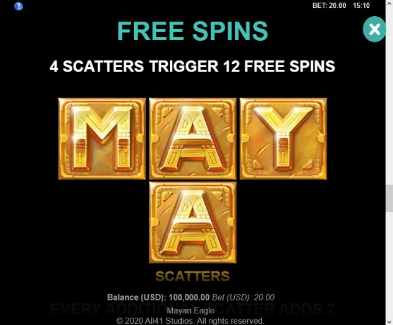 Mayan Eagle :: Free Spins Rules