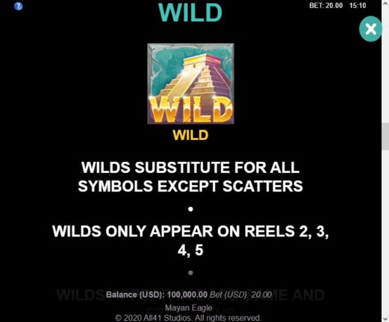 Mayan Eagle :: Wild Symbols Rules