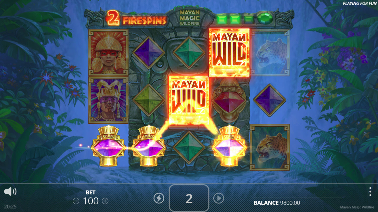 Mayan Magic Wildfire :: Four of a kind