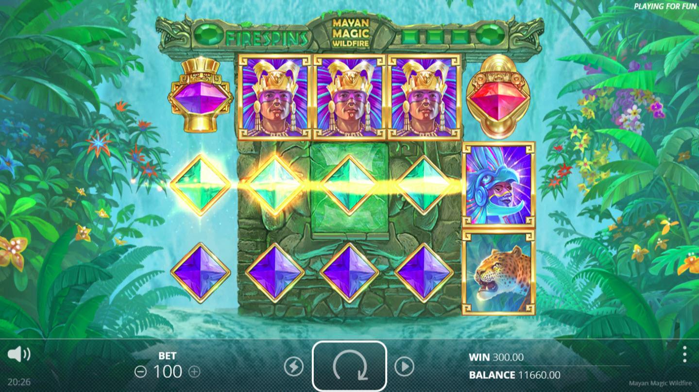 Mayan Magic Wildfire :: Multiple winning paylines