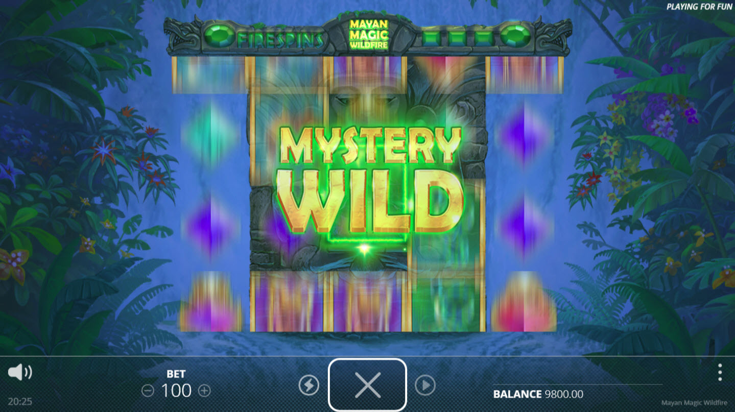 Mayan Magic Wildfire :: Mystery Wild feature activated