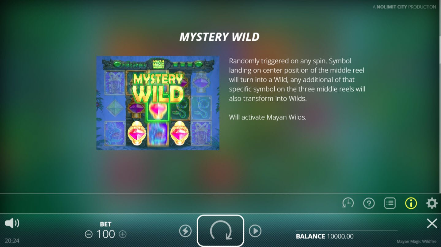 Mayan Magic Wildfire :: Mystery Wild