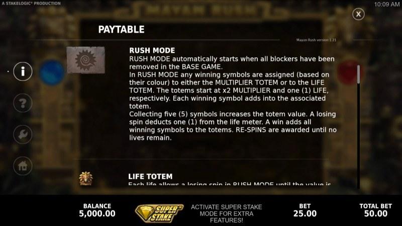Mayan Rush :: Rush Mode