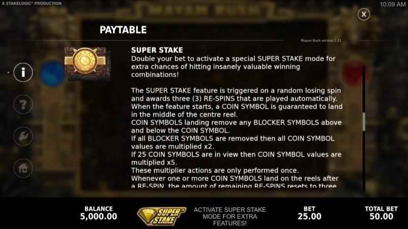 Mayan Rush :: Super Stake