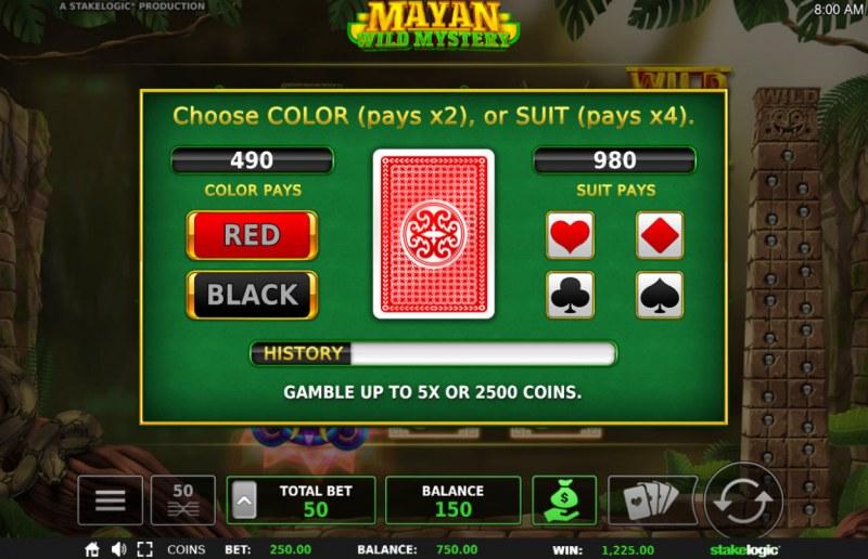 Mayan Wild Mystery :: Gamble Feature Game Board