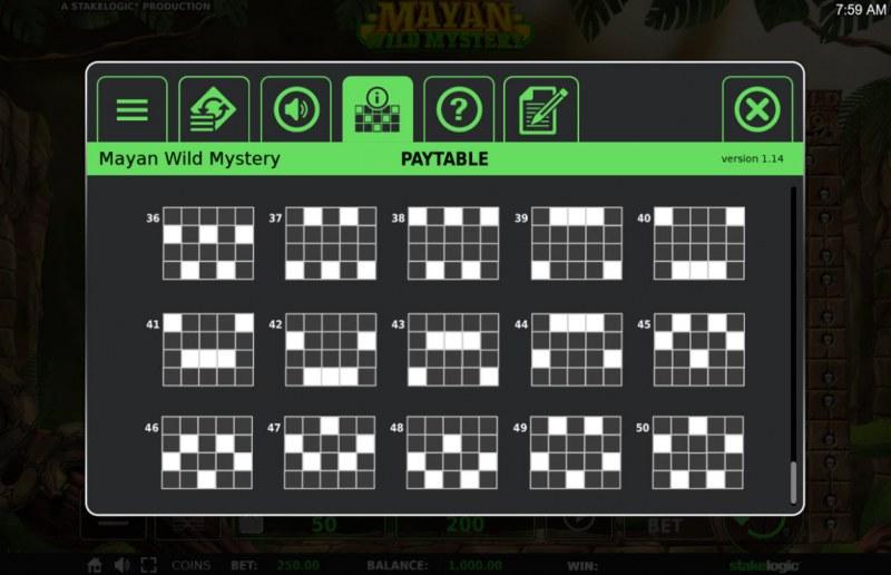 Mayan Wild Mystery :: Paylines 40-50
