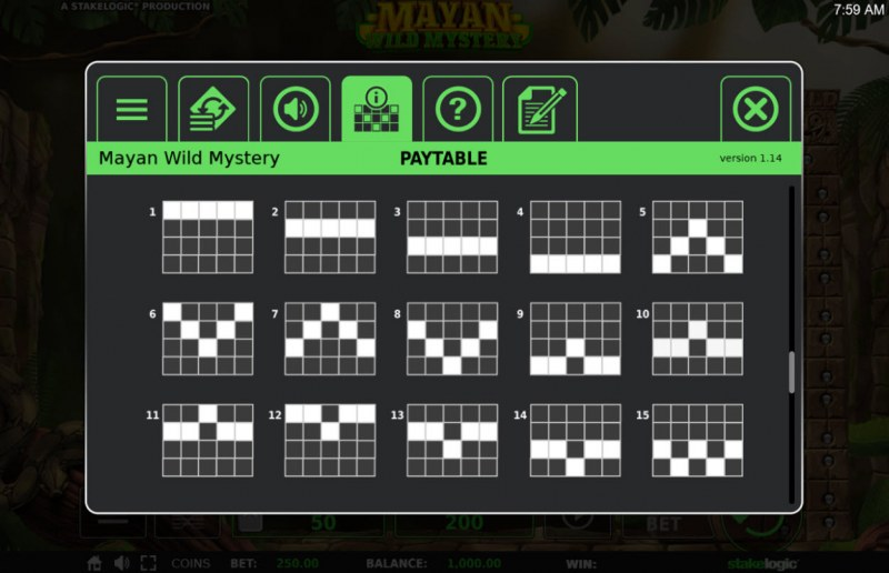 Mayan Wild Mystery :: Paylines 1-15