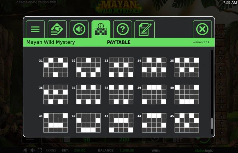 Mayan Wild Mystery :: Paylines 26-40