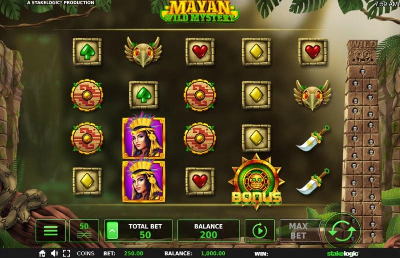 Mayan Wild Mystery :: Main Game Board