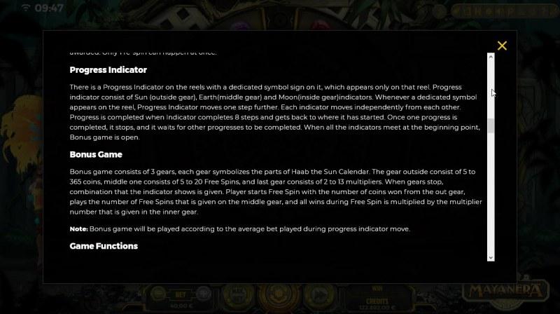 Mayanera :: Feature Rules