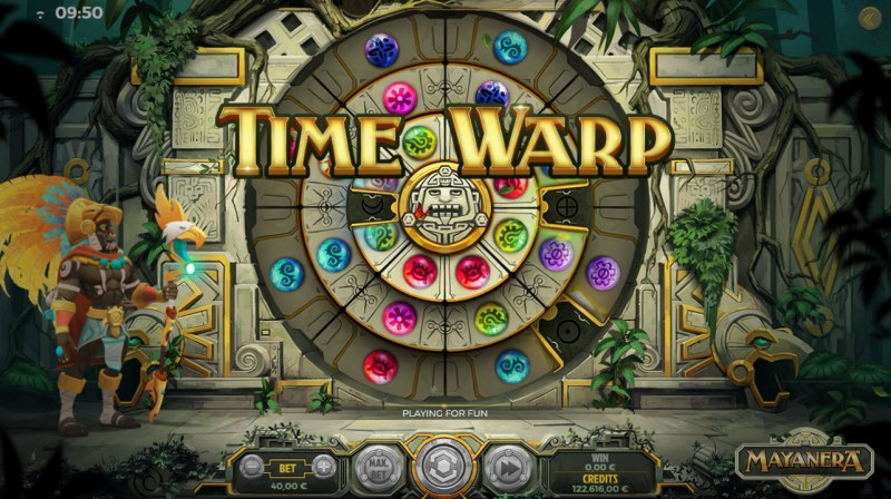 Mayanera :: Time Warp feature activates randomly during any spin