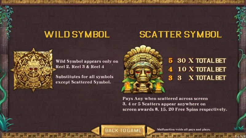 Maya's Miracle :: Wild Symbols Rules