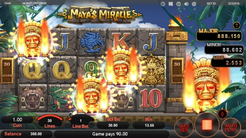 Maya's Miracle :: Scatter symbols triggers the free spins feature