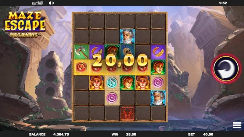 Maze Escape :: A five of a kind win