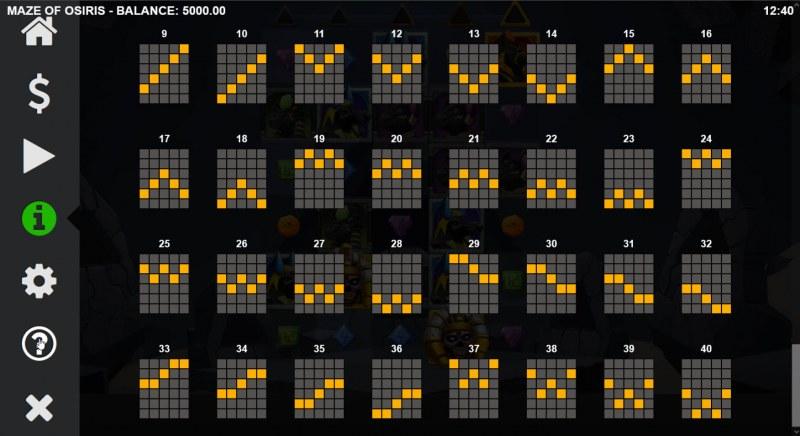 Maze of Osiris :: Paylines 21-40
