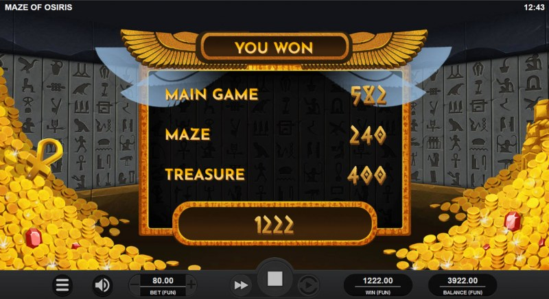 Maze of Osiris :: Total Feature Payout
