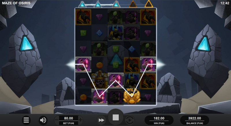 Maze of Osiris :: A five of a kind win