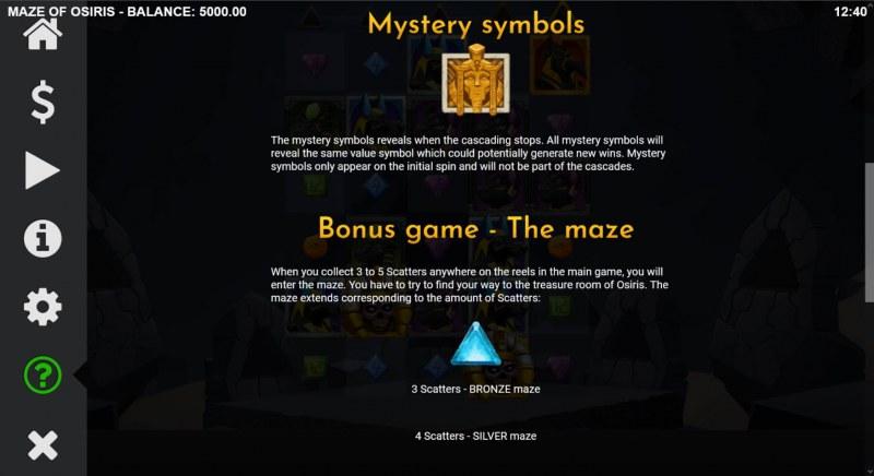 Maze of Osiris :: Feature Rules