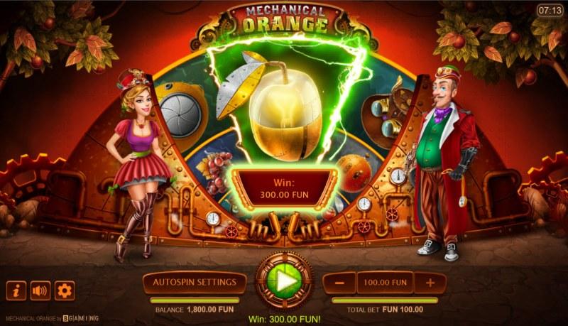 Mechanical Orange :: A three of a kind win