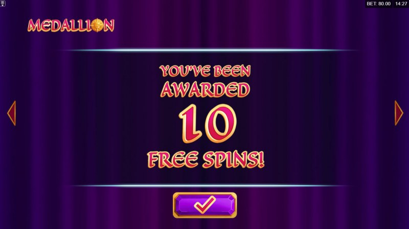 Medallion Megaways :: 10 Free Spins Awarded