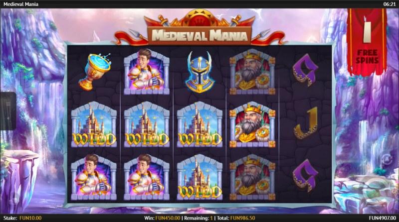 Medieval Mania :: Multiple winning paylines