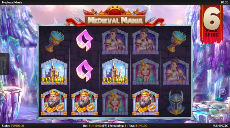 Medieval Mania :: Free Spins Game Board