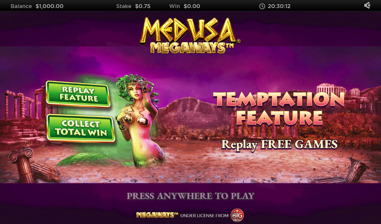 Play slots at Deuce Club: Deuce Club featuring the Video Slots Medusa Megaways with a maximum payout of $1,250,000