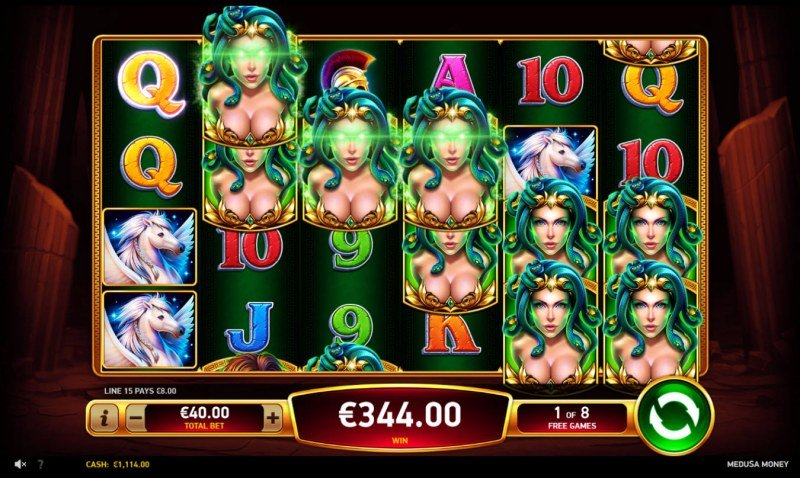 Medusa Money :: Free Spins Game Board