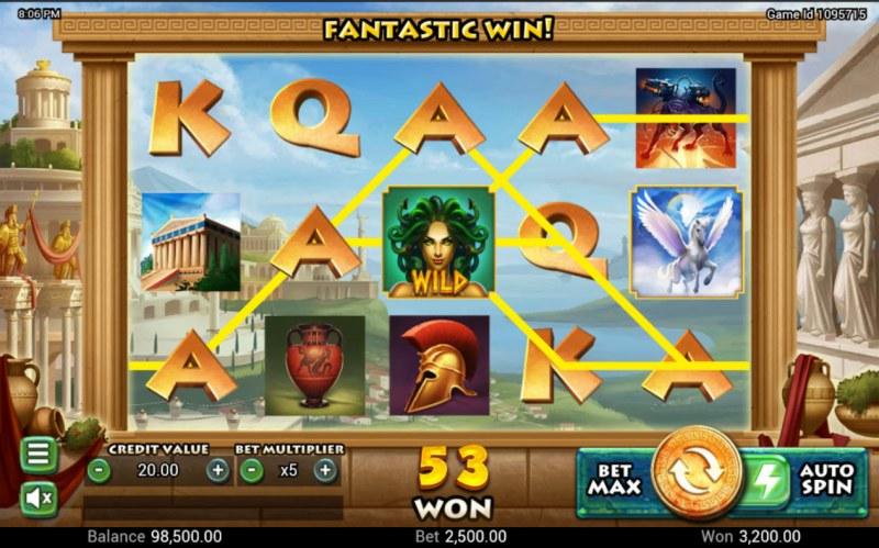 Medusa's Curse :: Multiple winning paylines