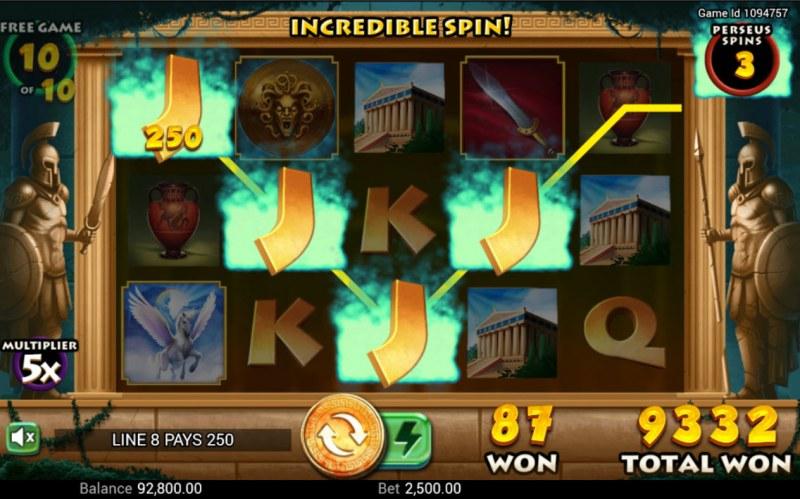 Medusa's Curse :: A four of a kind win