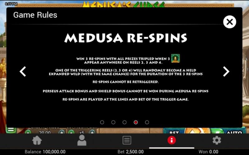 Medusa's Curse :: Medusa Re-Spins